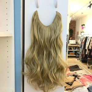"24"" Fish line band halo hair extension"